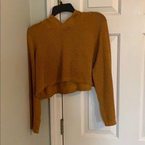 Cropped Mustard color sweater